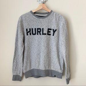 Hurley gray crewneck sweatshirt